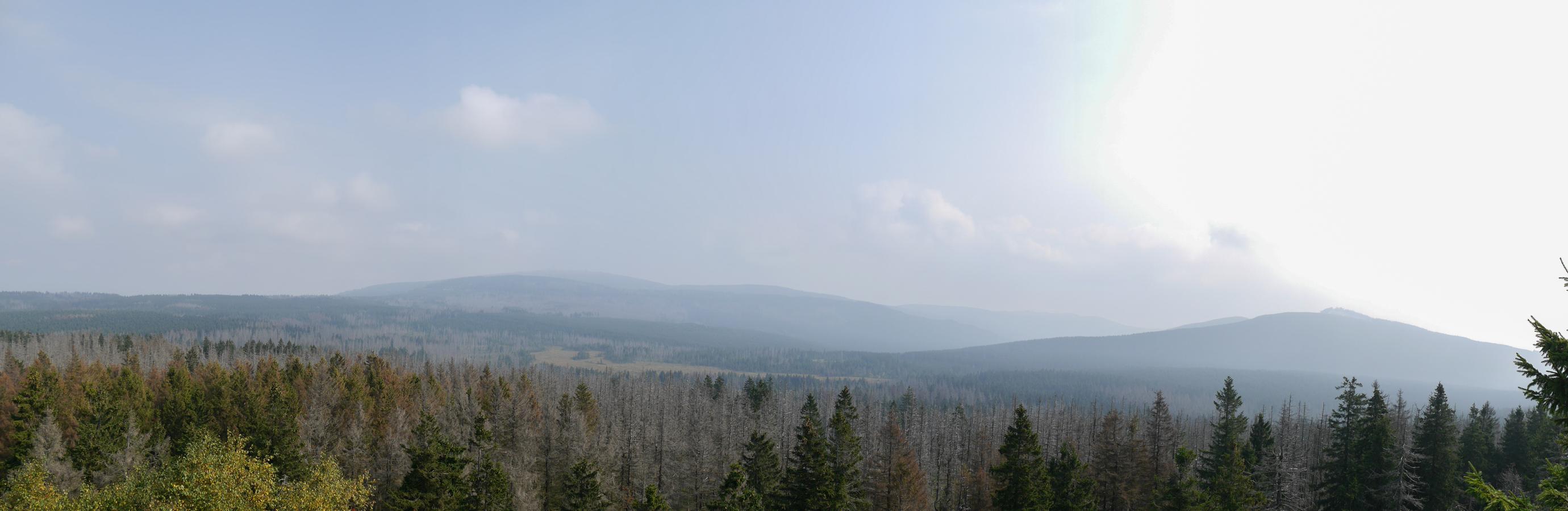 Blick zum Brocken und Wurmberg